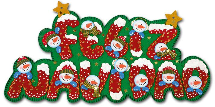 Aviso Navidad en foamy