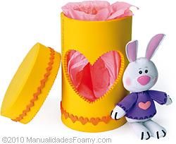 Caja Conejo en Foamy