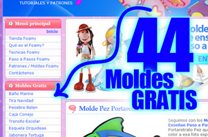 Moldes Goma Eva Foamy GRATIS