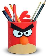Vaso Portalápices de Angry Birds en Foamy Goma Eva lo puedes hacer ...