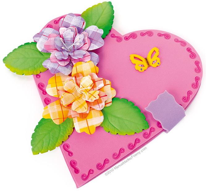 Foamy marca Fomi® Carta fucsia, lila, mango y biche. 1 paquete de ...