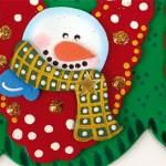 Aviso Feliz Navidad en Foamy Goma Eva