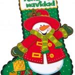 Bota Feliz Navidad en Foamy Goma Eva