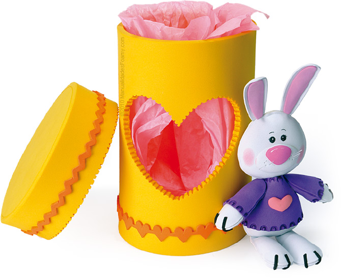 Caja Conejo en Foamy Goma Eva