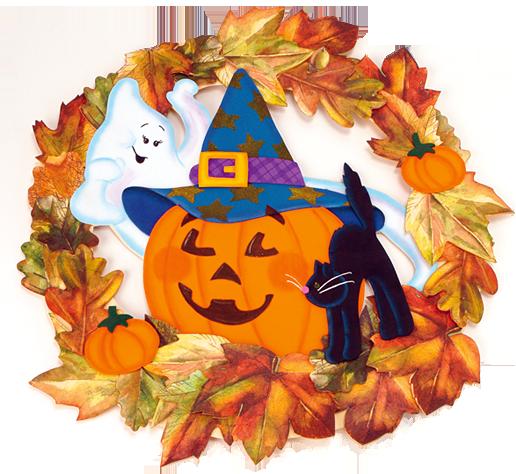 Corona de Halloween