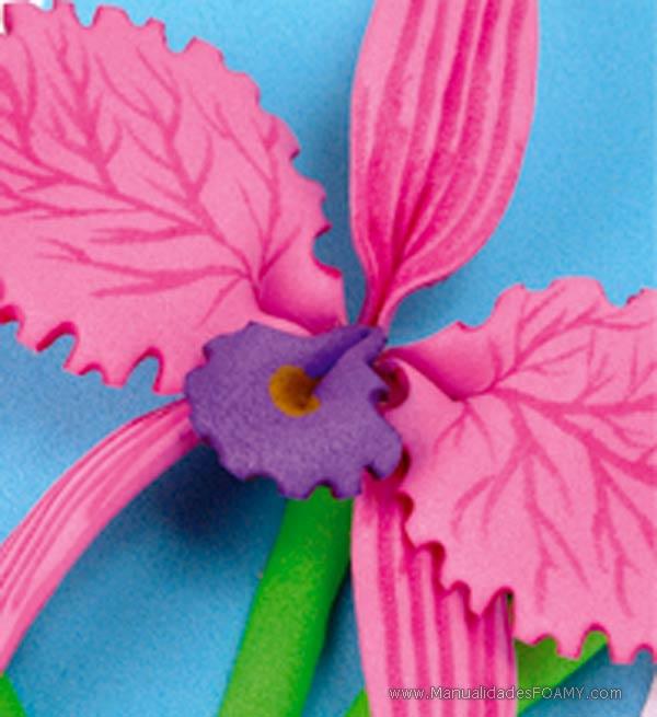 Esquela de Orquídeas en Foamy Goma Eva | ManualidadesFoamy.com