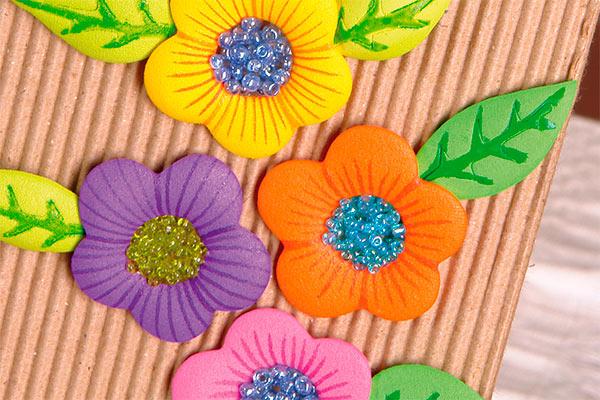 Flores Empaque Dia del Padre en Foamy Goma Eva