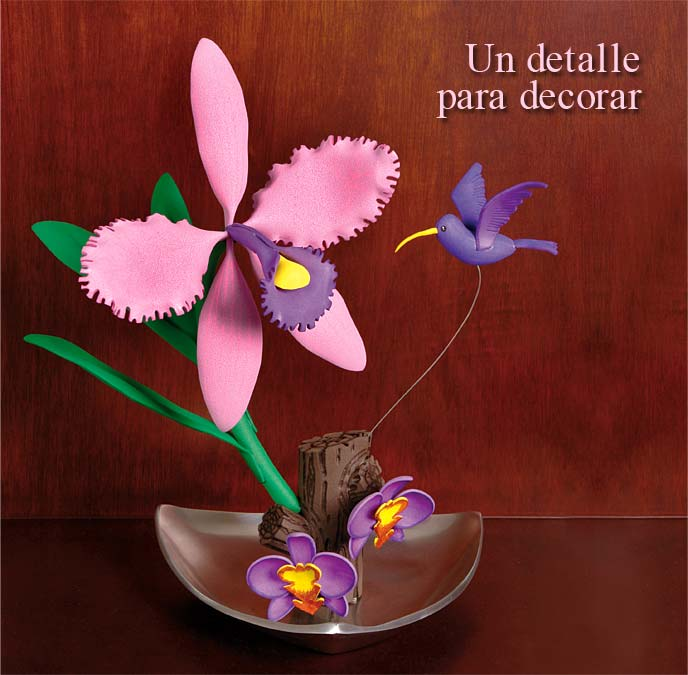 Orquídea Colibrí en Foamy Goma Eva | ManualidadesFoamy.com