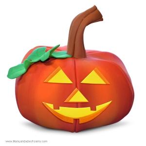 Calabaza en Foamy Goma Eva Halloween