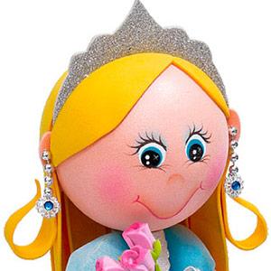 Moldes Fofucha Princesa Azul