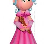 Fofucha Princesa Rosada Foamy Goma Eva