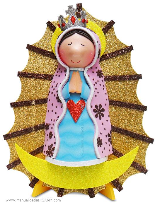 Virgen Guadalupe Foamy Goma Eva