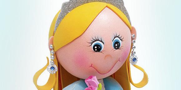 Princesa Azul Fofucha Manualidadesfoamy